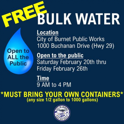 City of Burnet bulk water