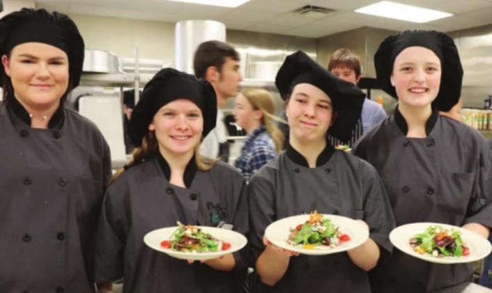 Burnet High School culinary students honed their skills with the Rotary Club of Burnet in 2018 (pictured here), and now they will have a chance to prepare meals for astronauts in the NASA HUNCH competition. Contributed