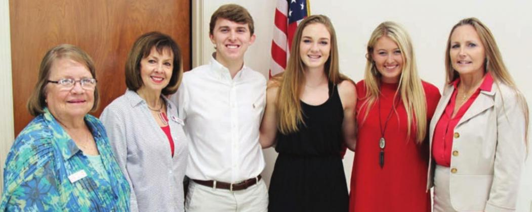 Above: As a member of the Burnet County Republican Women's scholarship committee, JoAnn Myers, left, helped make sure local youth received the opportunity to advance their education. File photos