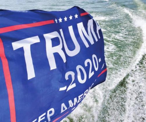 Supporters from as far as San Antonio and the metroplex joined local residents from Burnet County and Llano County July 5 for the Lake LBJ Loves Trump event. Kim Green/Burnet Bulletin