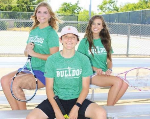 Senior tennis players Will Gregg, Mary Kate Mackenna and Hannah Wilson will lead the tennis team in matches against Boerne High School this week. Wayne Craig/Clear Memories