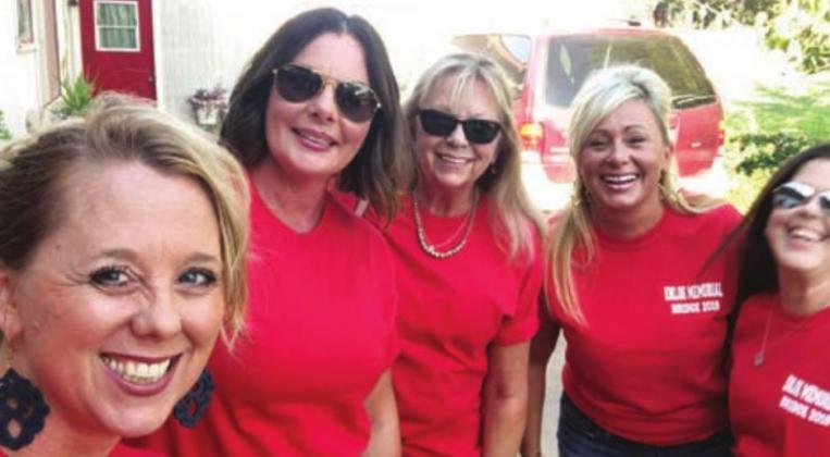 Pictured, from left, are Rhonda Colombo and Tonya Wyatt, former team members, familly member Cathie Place, daughter of the bridge namesakes Wendy Sue-Enloe Smith and family friend Claudia Amici Tuckness. Contributed/ Rhonda Colombo