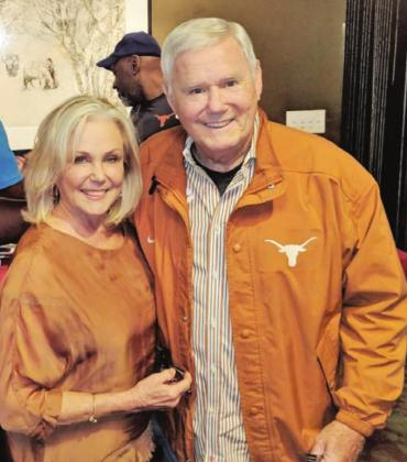 Diane and Fred Akers during happier times. The former University of Texas football coach is now isolated due to the COVID-19 pandemic in a local memory care center, away from his wife, who is calling on the state to allow primary caregivers back into nursing facilities. Contributed