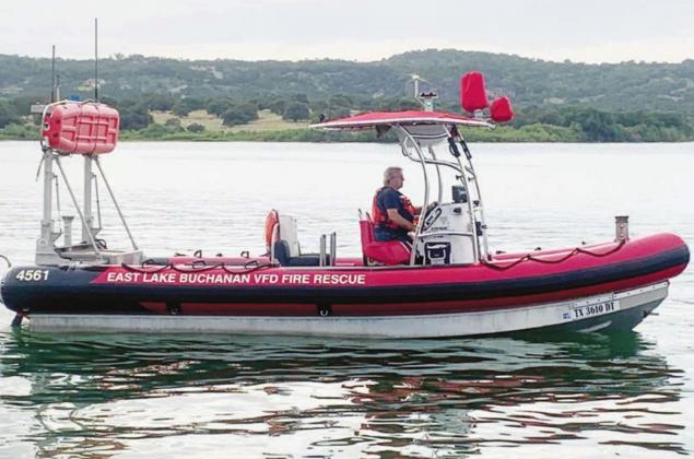 East Lake Buchanan VFD will add a thermal imaging camera to its rescue boat, pictured here, using a grant from LCRA and PEC. Contributed
