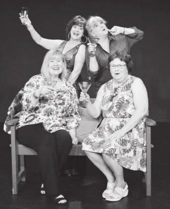 "The cast of ""The Savannah Sipping Society."" Standing from left are Tammy Sanders and Amy Masuda. Seated are Vickie Cody and Donna Petty. Contributed"