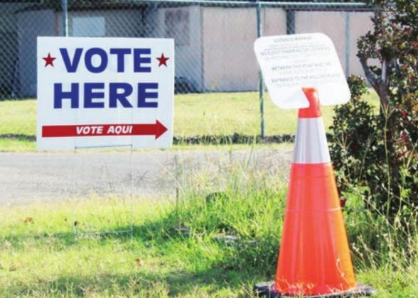 Early voting has opened in Texas. Residents of Burnet County can vote in four locations, including the Granite Shoals Community Center. Connie Swinney/Burnet Bulletin