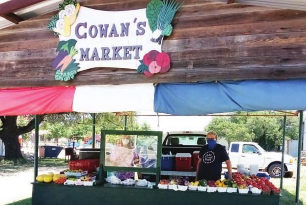 Cowan's Market in Briggs has fresh garden vegetables and an ample supply of watermelons. Fran Jones/Burnet Bulletin